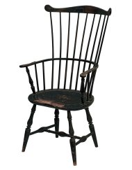 Lot 44B: 18th C. New England Windsor Armchair