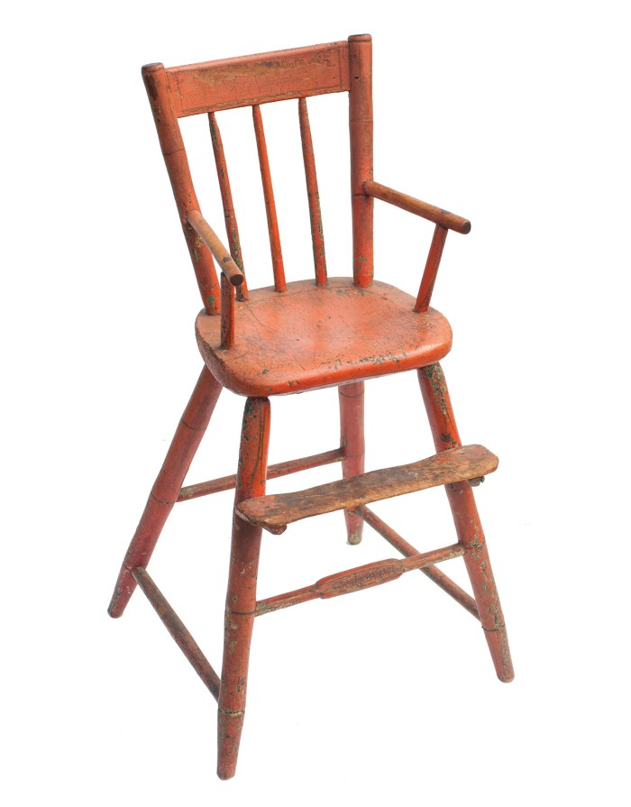Lot 53A: 19th C. Windsor High Chair