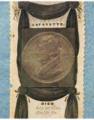 Lot 6: Rare Silk Lafayette Memorial