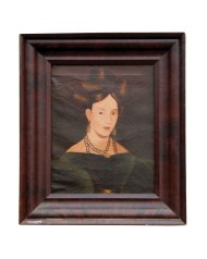 Lot 89: Early 19th C. Portrait of Young Lady