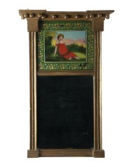 Lot 90A: 19th C. Looking Glass