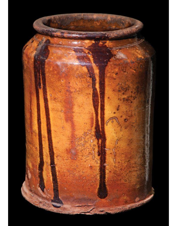 Lot 9A: New England Glazed Redware Jar