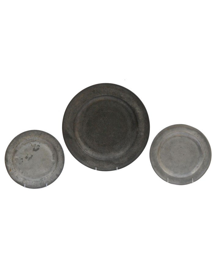 Lot 42A: Five Pieces of 18th and 19th C. Pewter