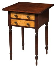 Lot 103: 19th c. Two-Drawer Stand