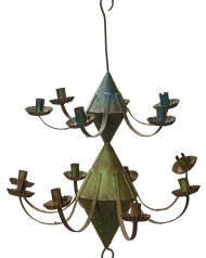 Lot 104: Very Rare Tin Chandelier