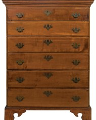 Lot 105: 18th c. Six-Drawer Tall Chest