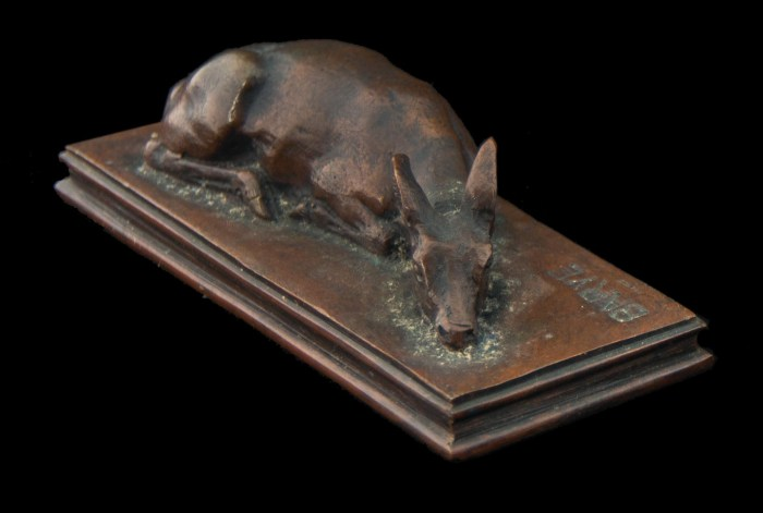 Lot 106: Bronze Sleeping Fawn