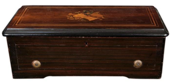 Lot 114: 19th c. Swiss Music Box