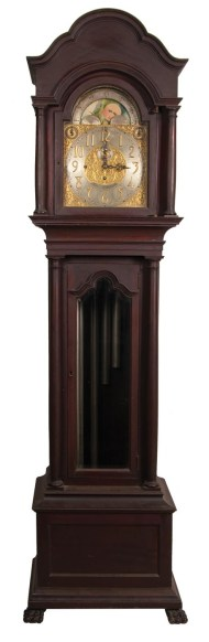 Lot 124: Tall clock, Boston, chiming