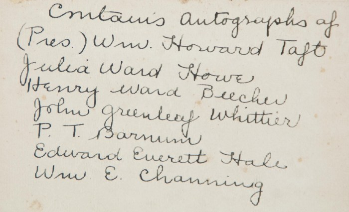 Lot 126: 19th and 20th c. Autographs
