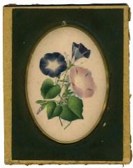 Lot 127: Isaac Sprague Watercolor and Book