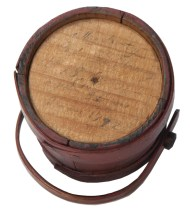 Lot 139: Rare 19th c. Miniature Hingham Firkin