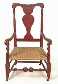 Lot 148: 18th c. Queen Anne Armchair
