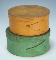 Lot 14A: Two 19th c. Round Pantry Boxes