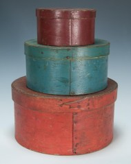 Lot 14B: Three 19th c. Round Pantry Boxes