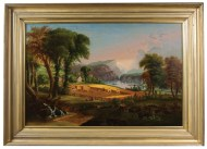 Lot 153: Hudson River Primitive Oil