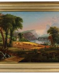 Lot 153: Hudson River Primitive Oil