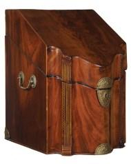 Lot 164: English Mahogany Knife Box