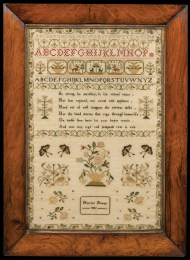 Lot 168: Very Fine English Needlework Sampler