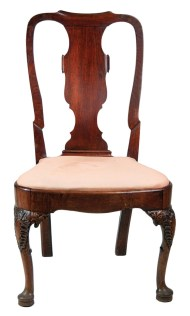 Lot 172: 18th c. English Queen Anne Side Chair