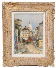 Lot 186: Oil Painting by J. Brosius