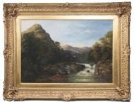 "Lot 197: Landscape Oil ""On The Mohawk"""