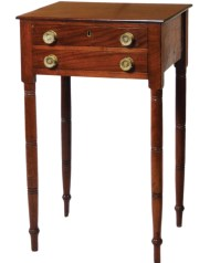 Lot 198: 19th c. Two-Drawer Stand