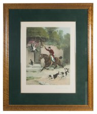 Lot 211: English Hunting Print