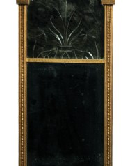 Lot 231: 19th c. Federal Looking Glass