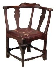 Lot 235: 18th c. English Corner Chair