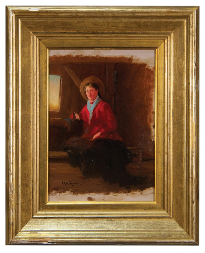 Lot 23: Oil Painting by C.H. Gifford
