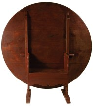 Lot 240: Custom Round Top Hutch Table