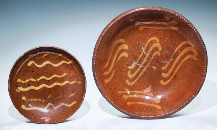Lot 30A: Two Redware Plates