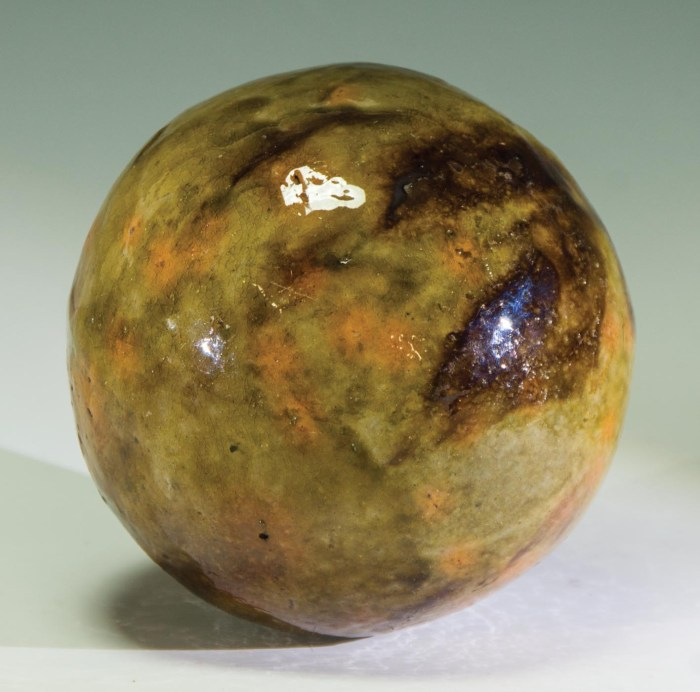 Lot 3B: Very Rare Early Redware Ball