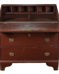 Lot 40: Early 19th c. Slant Lid Desk