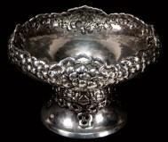 Lot 42: Silver Fruit Bowl