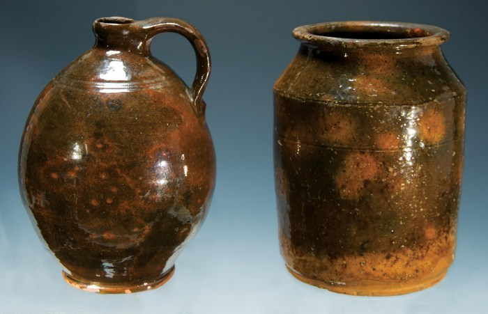 Lot 4: Two 19th c. Redware Pieces
