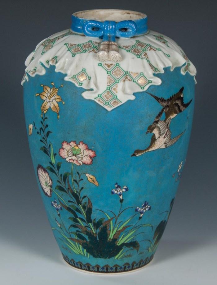 Lot 58D: Japanese Totai Cloisonne Vase