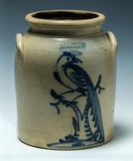 Lot 6: 19th c. Stoneware Crock