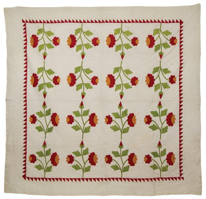 Lot 72: 19th c. Pennsylvania Quilt
