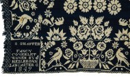 Lot 73: 19th c. Coverlet