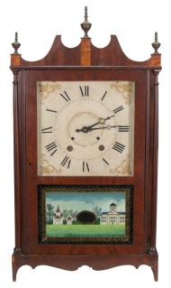 Lot 74: 19th c. Connecticut Shelf Clock