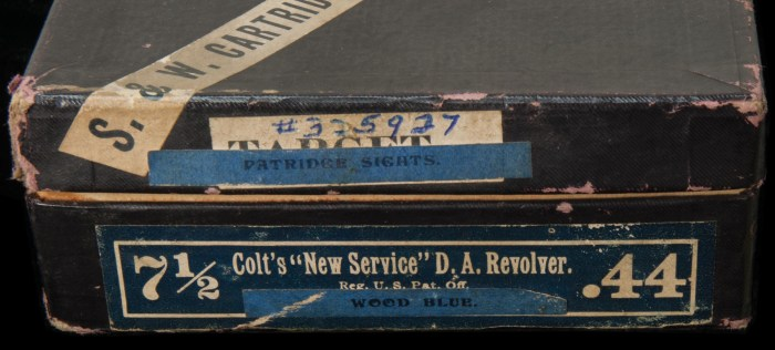 Lot 92C: Colt New Service 44 Revolver