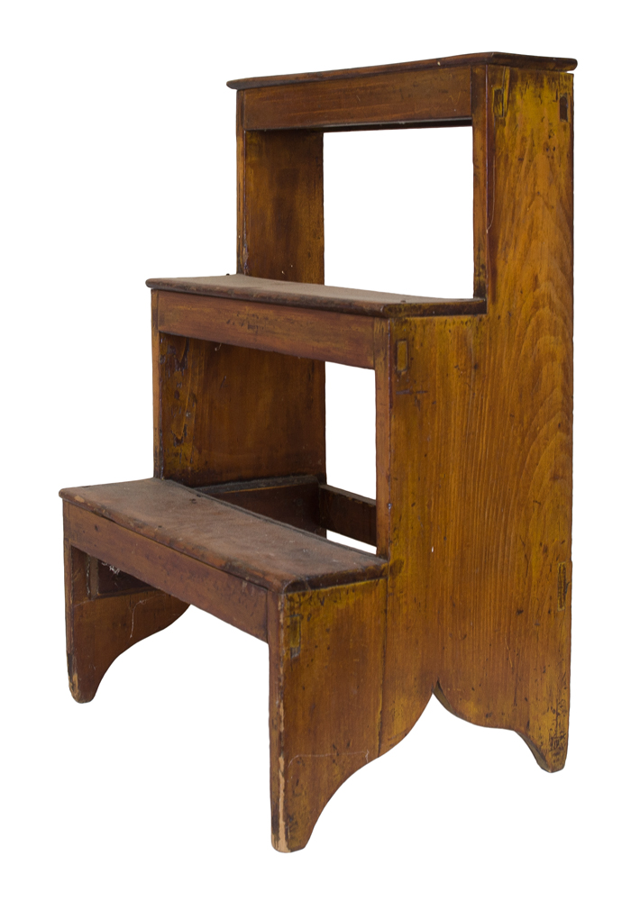 Enjoyable Lot 179 Sisters Three Step Stool Willis Henry Auctions Inc Pabps2019 Chair Design Images Pabps2019Com