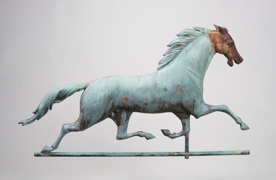 folk, art, weathervane, horse