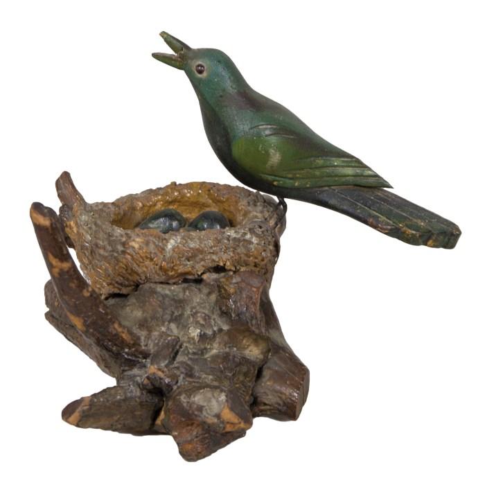 carved, wood, bird