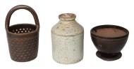 redware, jar, pot, stoneware, strainer