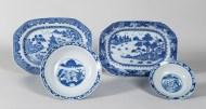 chinese, ceramic, bowls, platter