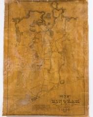 map, hingham, 1830