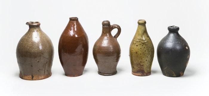 redware, stoneware, bottles, jugs